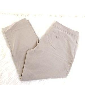 Christopher Banks Beige Cropped Dress Pants